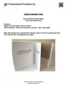 Recycled Folder - Laird